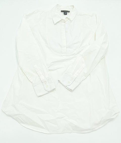 A Pea in the Pod white pop-over shirt - small