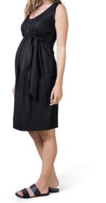 "Isabella Oliver ""Piana"" black dress - size 1 (x-small)"