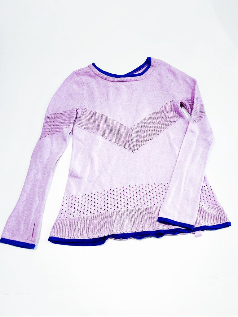Ivivva lilac sweater size 7-Fresh Kids Inc.