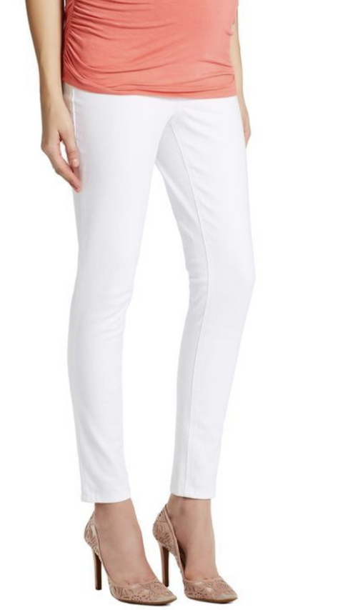 Jessica Simpson maternity white skinny ankle jeans - medium