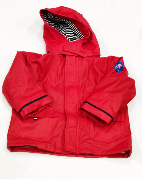 Jojo Maman rain jacket lined red 18-24m-Fresh Kids Inc.
