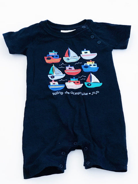Jojo Maman romper navy 18-24m-Fresh Kids Inc.