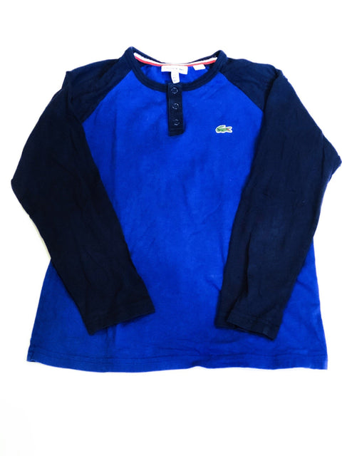 Lacoste top blue Henley size 10