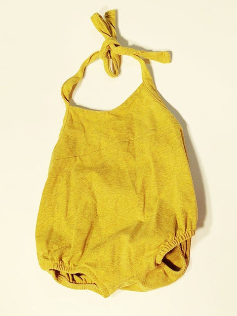 Little & Lively romper mustard 1-2T