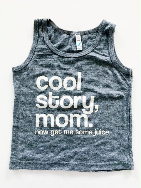 "Los Angeles Apparel ""Cool Story Mom"" tank size 6-Fresh Kids Inc."