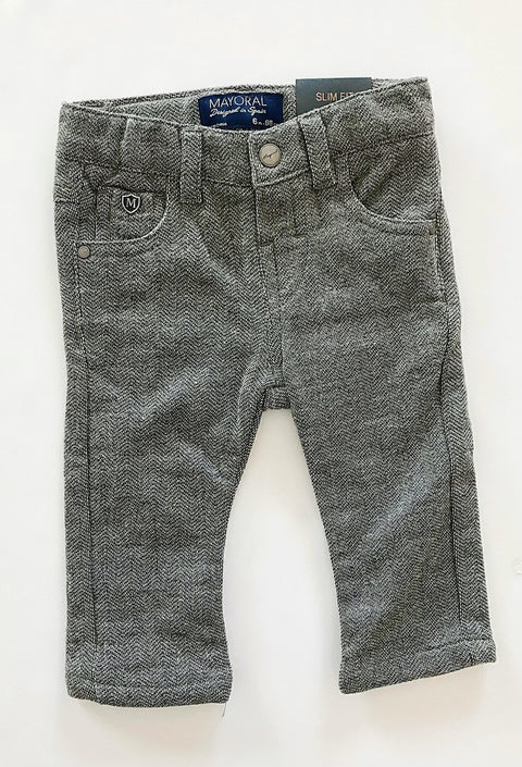 Mayoral pants - grey stretch soft - 6m BRAND NEW WITH TAGS-Fresh Kids Inc.