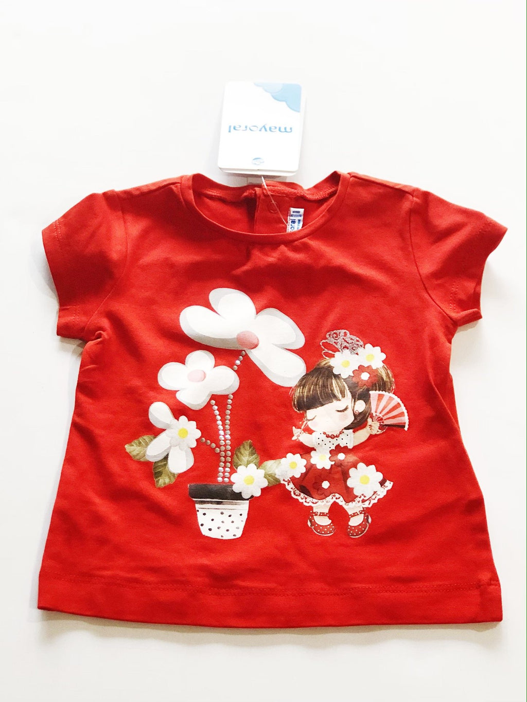 Mayoral red t-shirt 9m BRAND NEW-Fresh Kids Inc.