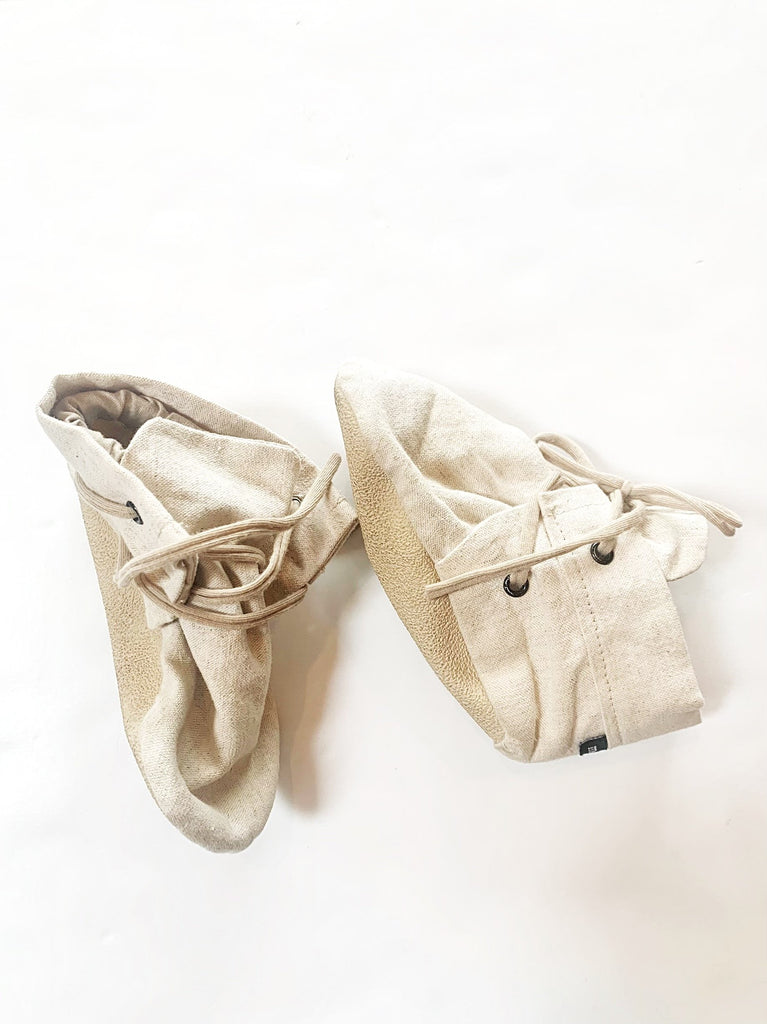 Momk booties - linen-Fresh Kids Inc.