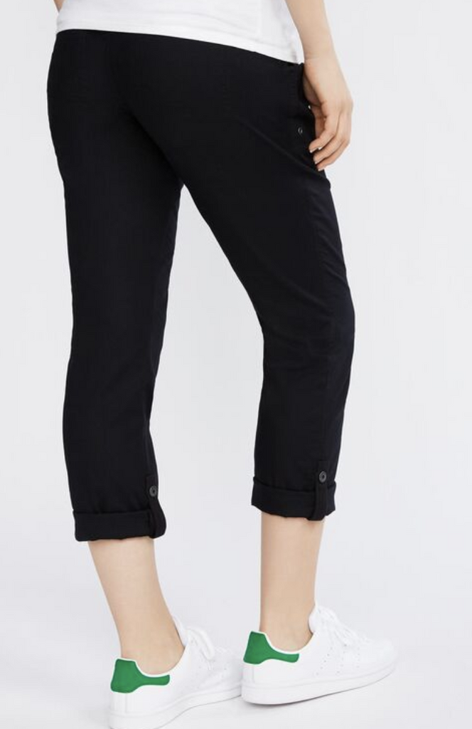 Motherhood Maternity lightweight black roll-up pants - small-Fresh Kids Inc.