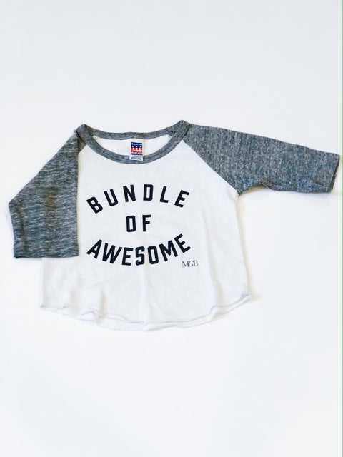 "My Cheeky Babe tee ""Bundle of Awesome"" 6-12m-Fresh Kids Inc."