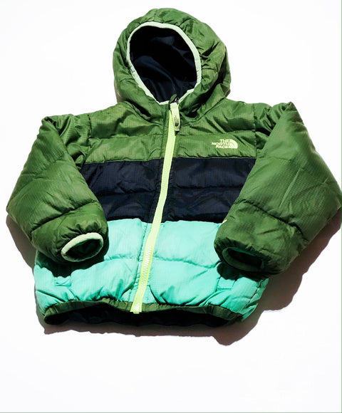 North Face jacket - down-filled reversible - size 3