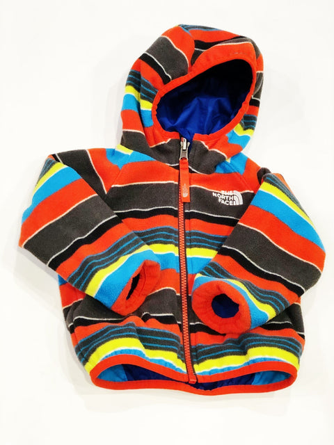 North Face jacket reversible/fleece-lined 6-12m-Fresh Kids Inc.