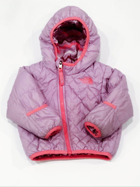 North Face jacket thermoball reversible 6-12m