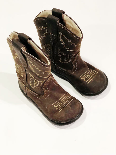 Old West Cowboy Boots size 060 (toddler size 6)-Fresh Kids Inc.