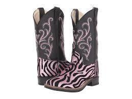 Old West Toddler Boots in Pink Zebra - size 4