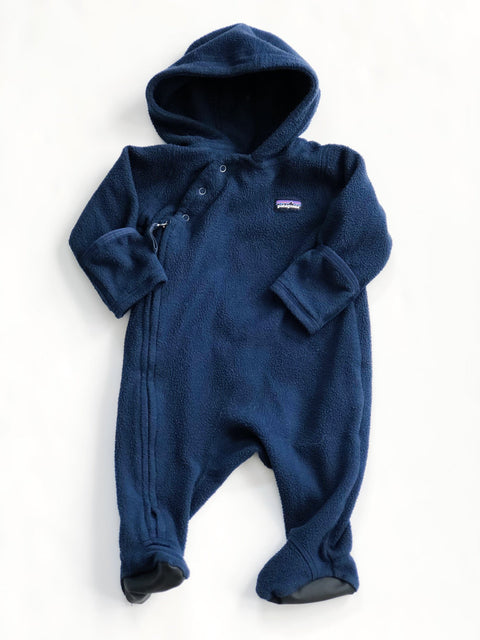 Patagonia bunting fleece navy 0-3m-Fresh Kids Inc.