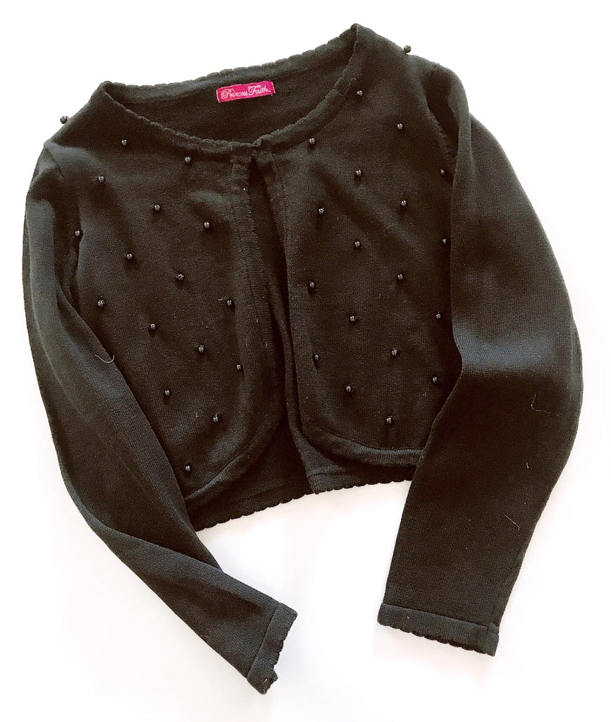 Princess Faith black cardigan size M (8-10) BRAND NEW WITH TAGS-Fresh Kids Inc.