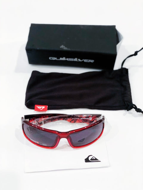 "Quicksilver sunglasses ""amped"" kids in black/red"