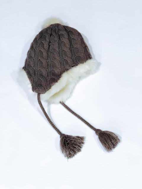 Restoration hardware faux fur hat -small/medium