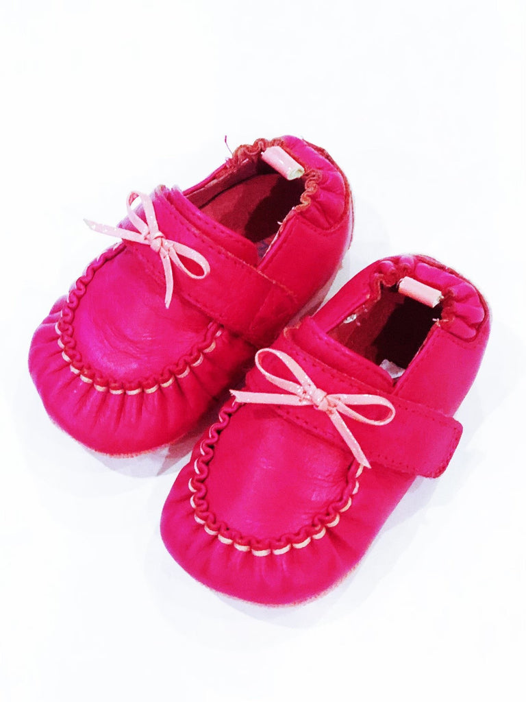"Robeez shoes ""Moccassion Pink/Moab"" size 4 (9-12m) BRAND NEW-Fresh Kids Inc."