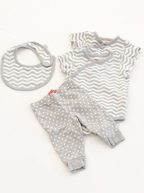 Skip Hop onesies (x2) leggings, bib set 9m-Fresh Kids Inc.