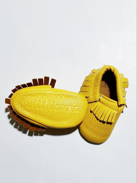 Sweet n Swag Moccs size 2 (3-6m) BRAND NEW