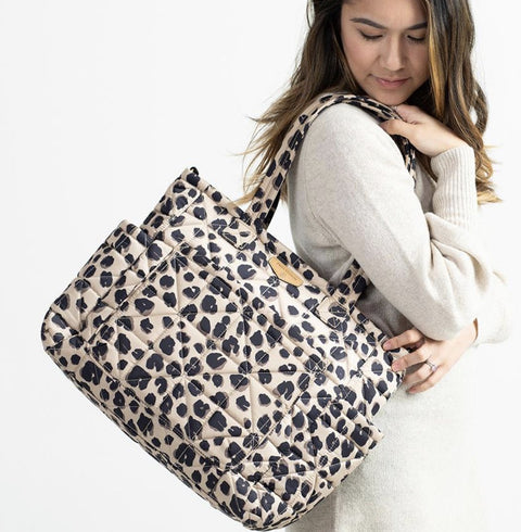 Twelve little carry love tote in Leopard print