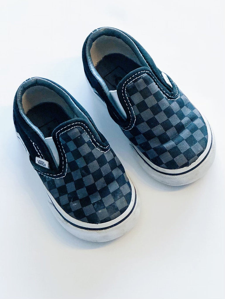 Vans checkerboard slip-on toddler size 5-Fresh Kids Inc.
