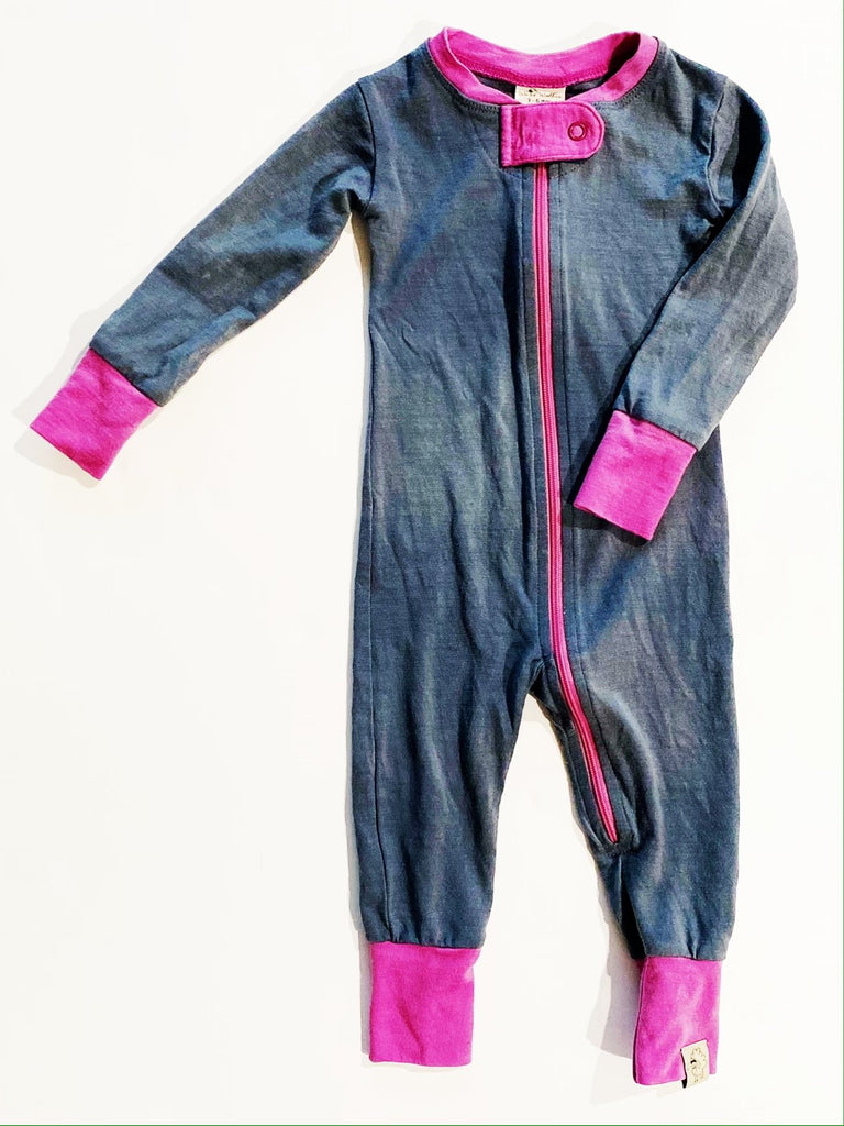 Wee Woollies zip romper 3-6m-Fresh Kids Inc.