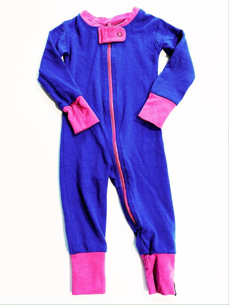 Wee Woollies zip romper 6-12m-Fresh Kids Inc.