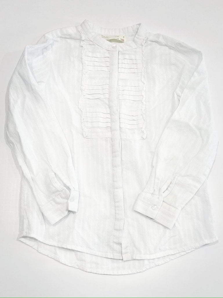 Zara embroidered white blouse size 7-Fresh Kids Inc.