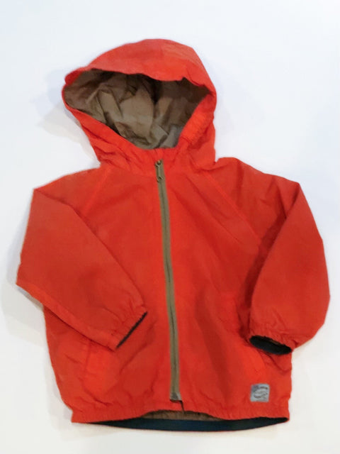 Zara rain jacket burnt orange 12-18m