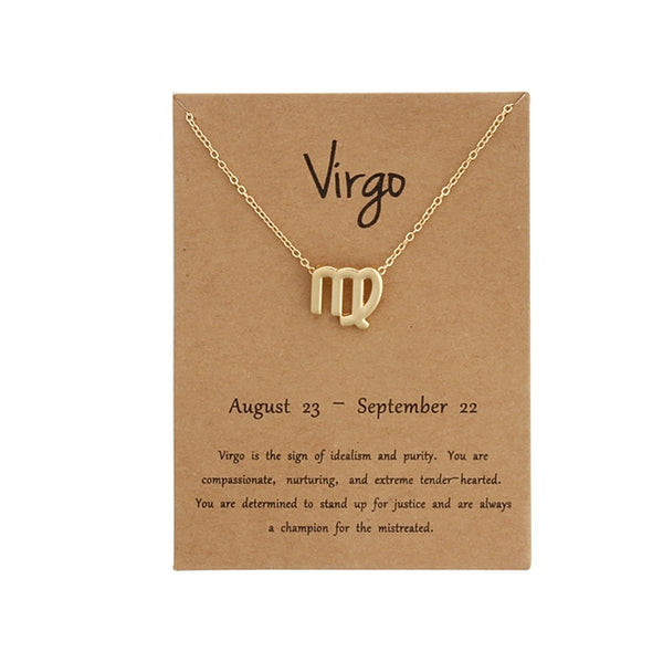 Zodiac Sign Necklace - Accessories - weartogiv - weartogive - wear to give - Philanthropy meets fashion with weartogiv.org. Philanthropy never looked so good! - Wear to giv - Where to give