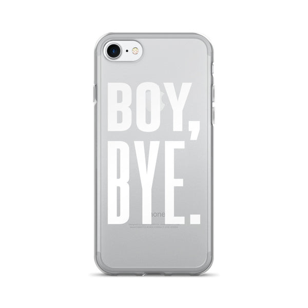 Boy Bye iPhone 7 Case – Clear White