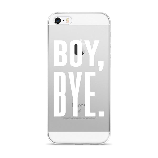 Boy Bye iPhone 5/6 Case – Clear White