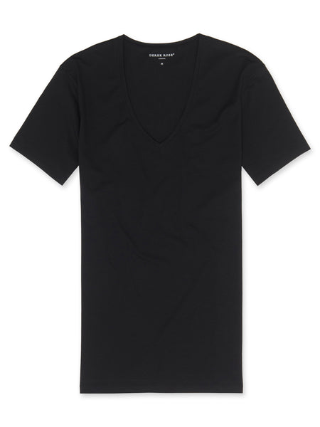 Derek Rose Pima Cotton Crew Jack - Black