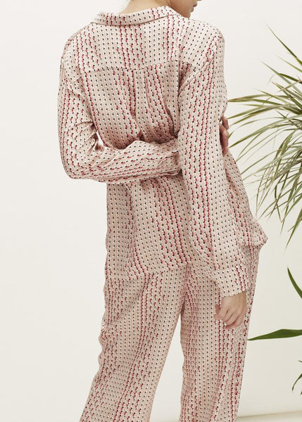 Blush Prism Pyjama Set in Silk