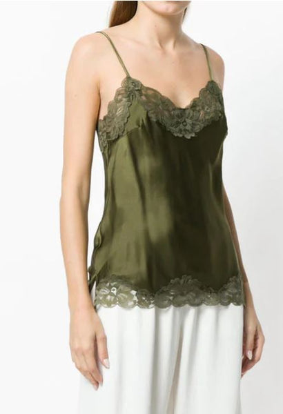 Gold Hawk Floral Cami in Olive