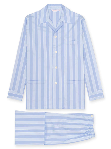 Derek Rose Classic pyjama set - Mayfair blue