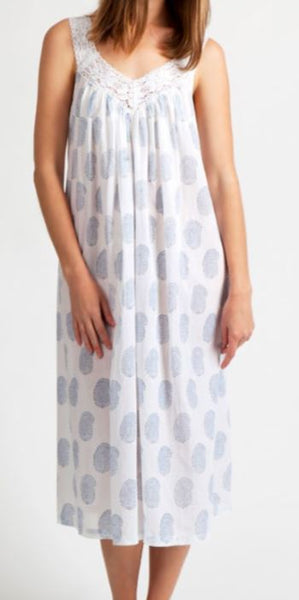Arabella Blue Paisley Cotton Nightie