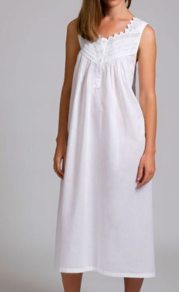 Arabella Cotton Nightie With Scalloped Neck