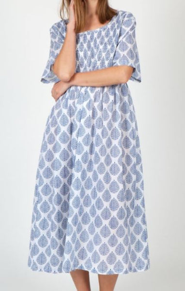 Arabella Blue Leaf Cotton Nightie