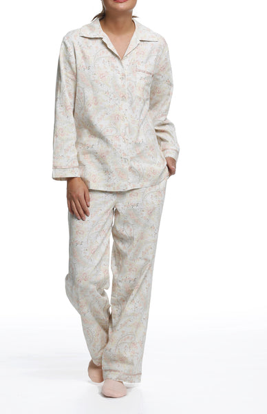 Papinelle Paisley Grey Full Length PJ Set