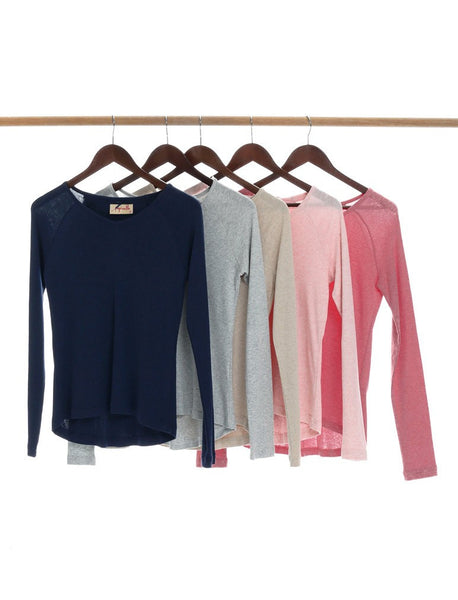 Papinelle Everyday Basic Long Sleeve V Neck