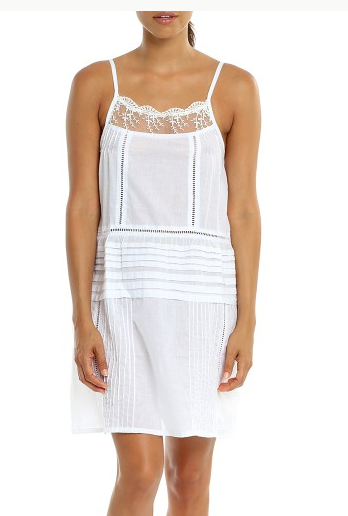 Papinelle Embroidered Lace Short Nightdress