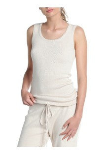 Pointelle Knit Shimmy Singlet