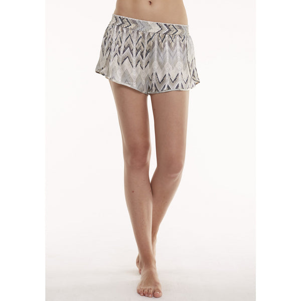 Asceno Sheer Chevron Lounge Shorts