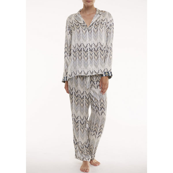 Asceno Sheer Chevron PJ Pants
