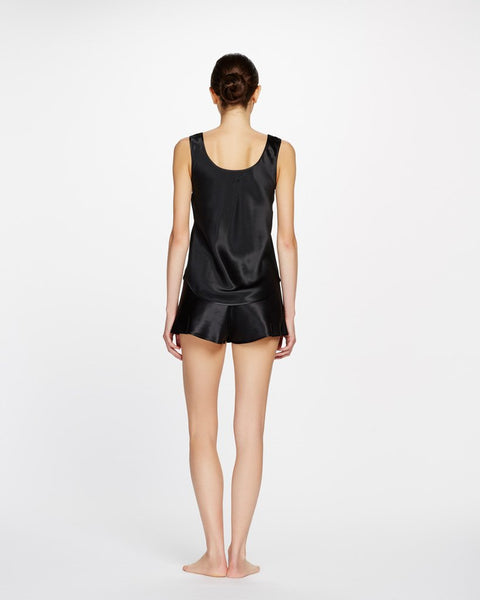 Ginia Pure Silk Singlet - thick strap