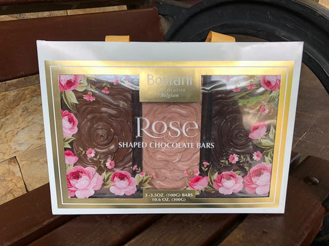 Rose Shaped Chocolate Bars